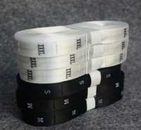 Wholesale High Quality Garment accessories clothing satin size labels soft woven labels in stock