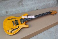 best fashion shops - Custom shop Best selling High quality Electric Guitar classic and fashion flamed maple top gold part headcase beautiful yellow