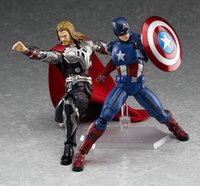 america models - Avengers Figma Captain America Juguetes Thor Hammer Brinquedos cm PVC Action Figure Collectible Model Kids Toys Doll