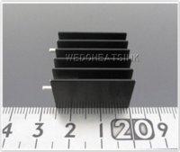 aluminum heat sink extrusions - x23 x16mm Amplifier Black Anodize Heat Sinks Aluminum Extrusion Radiator Heatsink With Needle heatsink aluminum