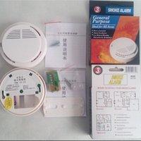 Sistemas de alarma de humo del detector sin hilos de la alarma de la seguridad contra incendios System <b>Sensor</b> inalámbrico de alta sensibilidad estable LED 85DB batería de 9V