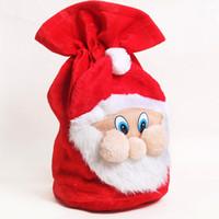 backpack school supplies - Cheap supplies high grade velvet gift bag cm Halloween Santa backpack Holiday Party School Hotel Decor