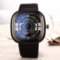 black friday - luxuy Brand Seven Friday white Men watch causal Fashion Quartz watch Plated black color Business Watch Leather strap