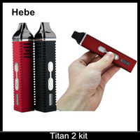 Wholesale Titan II kit HEBE Cloud vapor pen Dry herbal Vaporizer pen mAh Battery LCD Display Titan Vaporizer kit Via DHL