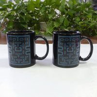 best man mug - DHL shipping free Best gift Pac man ceramic heat sensitive color changing coffee mug tea cups