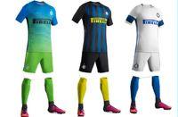 Wholesale 2016 Best Quality Inters Milanes Short sleeve adult shirts SHORTS SOCKS blue white De Foot custom jerseys