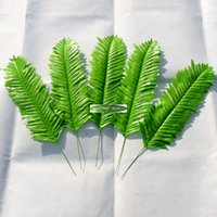 artificial palms - New cm Fabric Artificial Palm Plant Tree Branch Leaf in Wedding Home Church Furniture Decor Green FL1315