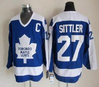 Wholesale Hockey Jersey Toronto Maple Leafs Wendel Clark Darryl Sittler Doug Gilmour name number Stitched