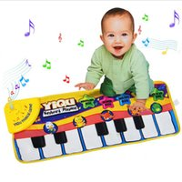 Wholesale Piano Music Game Mats Touch Type Electronic Mat Multifunction Baby Play Crawling Mat Animal Sounds Sings Toys for Kids Gift