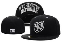 baseball w - Top Quality Washington Nationals Baseball Fitted Hats Classic Navy Blue Color With White W Brand Sports Team Flat Caps