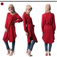 Red arab costumes - Dubai Arab robes Muslim Turkish loose women dress costumes Malaysia Middle East women s maxi dress plus size colors m xl
