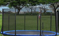 trampoline enclosure net - New FT Trampoline Enclosure Safety Net Fence Round Replacement W Poles