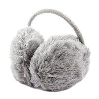 adult back pack - Pack Unisex Winter Headband Fluffy Faux Fur Ear Pad Back Earmuffs Gray
