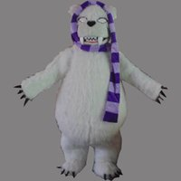 big foot costume - Strong White Polar Bear White Sea Bear Mascot Costume Cartoon Character Mascotte Adult Fat Belly Big Feet