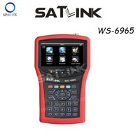 Wholesale Satlink WS HD DVB T2 signal finder meter inch LCD TFT spectrum analyer Satlink finder ws6965