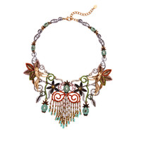 american indian nations - Nation in Europe and the wind restoring ancient ways charactizing a fine Mosaic tassel hot style rich auspicious socialite necklace