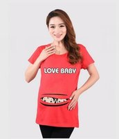Wholesale Maternity t shirt Clothing Cotton T Shirts Plus Size Summer Short Sleeve High Quality for Pregnant Women