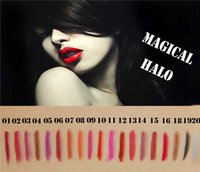 Wholesale 2016 New Arrive Magical Halo lip pencils colors smooth pencil head high quality wooden handle DHL from bond50