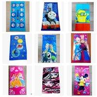 beach bathroom towels - Kids Beach Towel Finding Nemo Dory Bathing Towels Avengers Frozen Minnie Minion princess batman Zootopia Bathing Bathroom Swim Towels KKA446