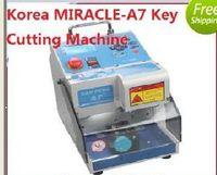 automatic cutters - 2016 Original Korea MIRACLE A7 Key Cutting Machine Car Key Cutter Full Automatic Electronic Three Axe Key Cutting Machine