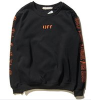 active joint - Vlone x off whe joint street tide big V printing men and women money round neck long sleeved sweater high quality