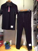 Wholesale Only sets brand design nice quality black nylon material men jogger sport tracksuits M XXL