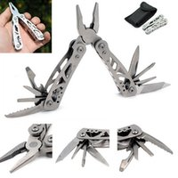 fishing tools - Multi Tool Outdoor Alicate Folding Pliers Survival Camping Fishing Mini Combination Pliers with Black Pouch