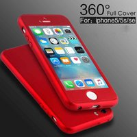 Wholesale Ultra thin Hybrid Degree Full Body Coverage Protective Case Cover with Tempered Glass Screen for iPhone Plus