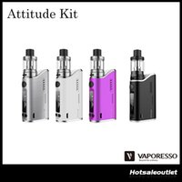 attitude free - Authentic Vaporesso Attitude EUC Kit with w Attitude Mod and Ml Capacity e Juice Estoc Tank Original DHL Free