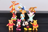 Wholesale Winnie Minnie Mickey Mouse Action Figure MIni Collection Toy Figurine New CM