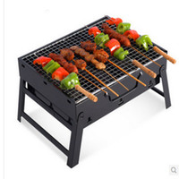 Wholesale Household Outdoor Folding Portable Grill Picnic Barbecue Charcoal Carbon Stainless Steel Barbecue Pits Send Family A Reunion