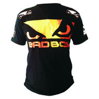 Wholesale Mens Boxing Jerseys Bad Boy MMA Boxing Clothes Hayabusa MMA Jersey Cotton Short sleeved Fight Wear Tiger Muay Thai Short XL XXL