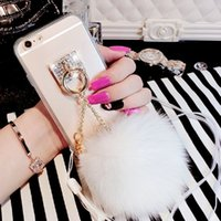 Wholesale For iphone Hot Luxury Fox Fur Ball Tassels Soft Silicone Phone Case Cover For iphone s s plus Samsung S5