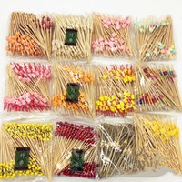 Wholesale 100pcs Wooded bamboo craft fruit toothpick fireworks toothpick cocktail picks interesting dessert party supplies