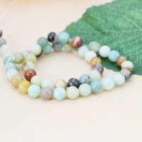 agate crafts - 8mm Hot sale Accessories Natural Agate loose beads Jasper Jewelry making design inch Girls Gifts stones crafts
