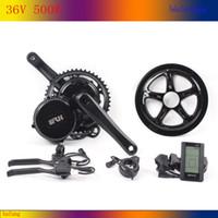 Wholesale 36V W fun bafang BBS02 Crank mid Motor kits C965 C961 motor crank Motor eletric bicycles ebike kit