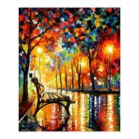 Wholesale Newly D DIY Diamond Painting Landscape Rhinestone Pasting Decorative Painting Diamond Embroidery Cross Stitch Kit Craft JC0236