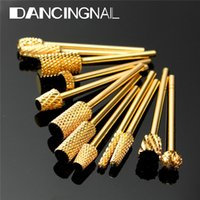 Wholesale Golden Nail Art Electric Cylinder Carbide File Drill Bit Manicure Pedicure Tool R410
