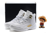 athletic shoes girls - Free Shiping Cheap Children Athletic RETRO Boys And Girls OVO XII Sneakers Kids Basketball Shoes