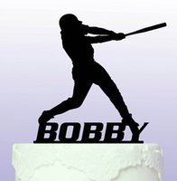 baseball birthday decorations - custom Baseball name birthday cake toppers wedding bridal baby shower Bachelor party theme decorations