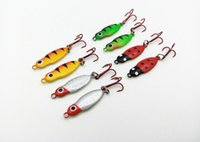 Wholesale 8Pcs Ice fishing bait cm g Mini Metal Lead Fish Jigging bait Crucian fish lure