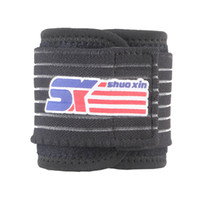 Wholesale SX501A Adjustable Sports Gym Elastic Stretchy Wristband Wrist Joint Brace Support Wrap Strap Band Guard Protector Black