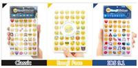 venda por atacado children laptop-19 Sheets 48 Die Emoji cara adesivo removível Decalque Mural Home Decor Emoji Sorriso Etiqueta Para Laptop Notebook facebook tiwtter crianças presentes