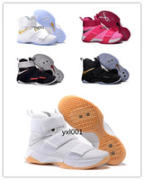 Wholesale 2016 Top quality lebron Soldiers Men s Basketball Shoes for Cheap Sale s James Sports Training Sneakers Size