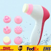 Wholesale Free DHL in Multifunction Electric Face Facial Cleansing Brush massager Beauty Tools Second Gear Adjust SH P02