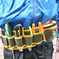 Wholesale wb top quality pocket Canvas tool bags big size electrician waist bag multifunctional utility tool pack with belt