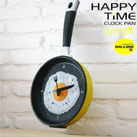 Wholesale Fashion Creative Pan Fried Eggs Wall Clock Watch The Kitchen Restaurant Cute Decorated Supe Creative Home