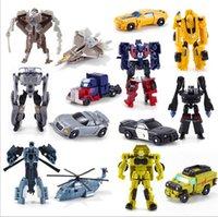 Wholesale 1PCS Transformation Kids Classic Robot Cars Toys For Children Action Toy Figures