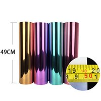 Wholesale 5M Foil Heat Transfer Vinyl With Sticky Back MetallicTransfer Vinyl From18 Colors