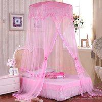 Wholesale Hot Sale Mosquito Net Princess Style Round Lace Insect Bedding Canopy Durable Bed Curtain Dome Mosquito Net for Double Bed JQ0037